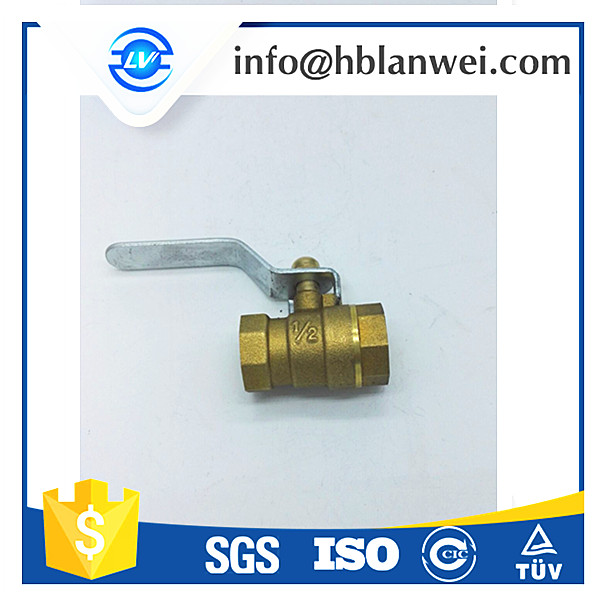 Hand lever flow restricting air control brass ball valve