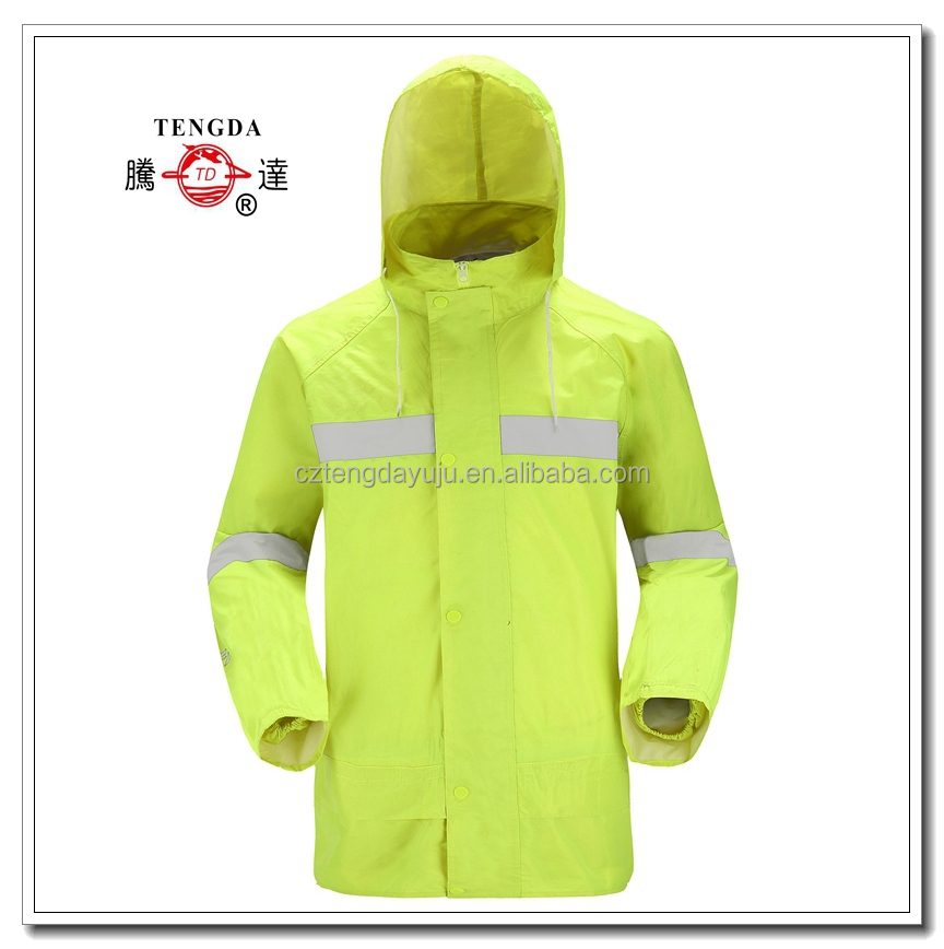 changzhou OEM high quality customized nylon PVC reflective safety clothing