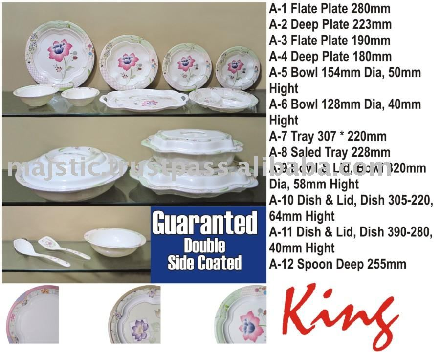 Pakistan Delicate Coated Melamine Dinner Set