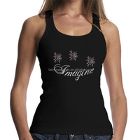 OEM Custom Tank Top Services Bling Flower Rhinestone Transfer Iron On Motif For Women Clothes