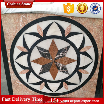 Flooring Design waterjet marble granite onyx stone waterjet
