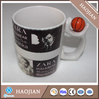 sublimation 11oz basketball mug blank ceramic mug