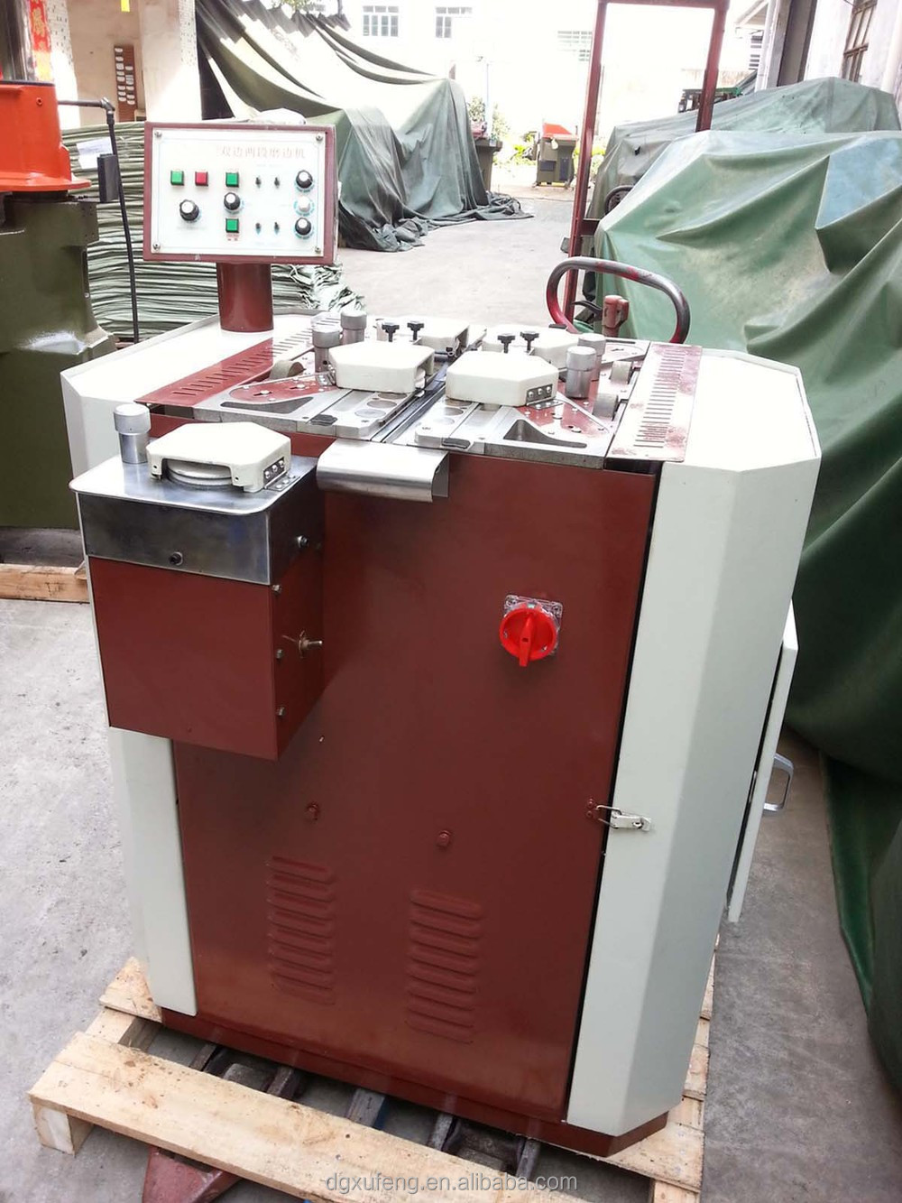 leather belt edge making polishing machine