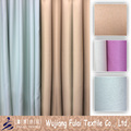 3 Layers Plain Dull Polyester Blackout Curtain Fabric