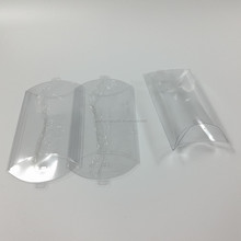 Transparent PVC plastic pillow packaging box with factory price Clear PVC pillow gift packaging box for candy