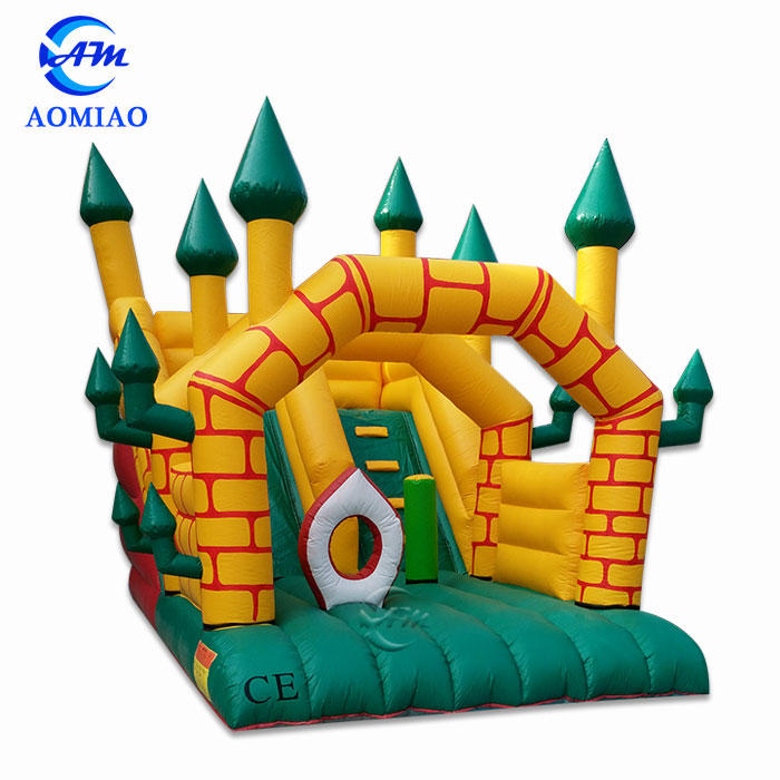 yellow and green jumbo water slide inflatable,inflatable slide bounce for kids