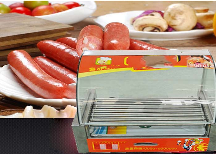 5 Tube Sausage Baking Machine Hot Dog Baked Machine Sausage Heating Machine