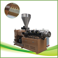 High efficiency wood plastic composite profile extrusion machine
