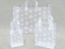 Transparent Dot Printed Oxo-Biodegradable Plastic Retail Shopping Bag