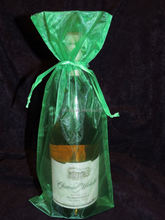 Top Quality Cheap Promotional mini cute wine bottle organza bag