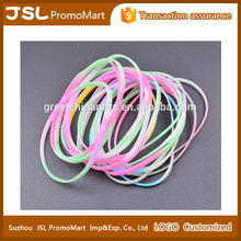 Promotional Custom Imprint Sports Party Light Up Glow in the Dark Silicone Rubber Wristband Bracelet