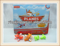 hot sell plastic planes shape flashing spinning top