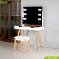 Makeup Mirror Vanity with 6 LED Light Bulbs Dressing Table