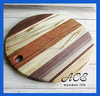 Multiple Wooden Cutting Board Round Shape Joint Wood Chopping Board Black Walnut Acacia Maple Beech Joint Round Cutting Board