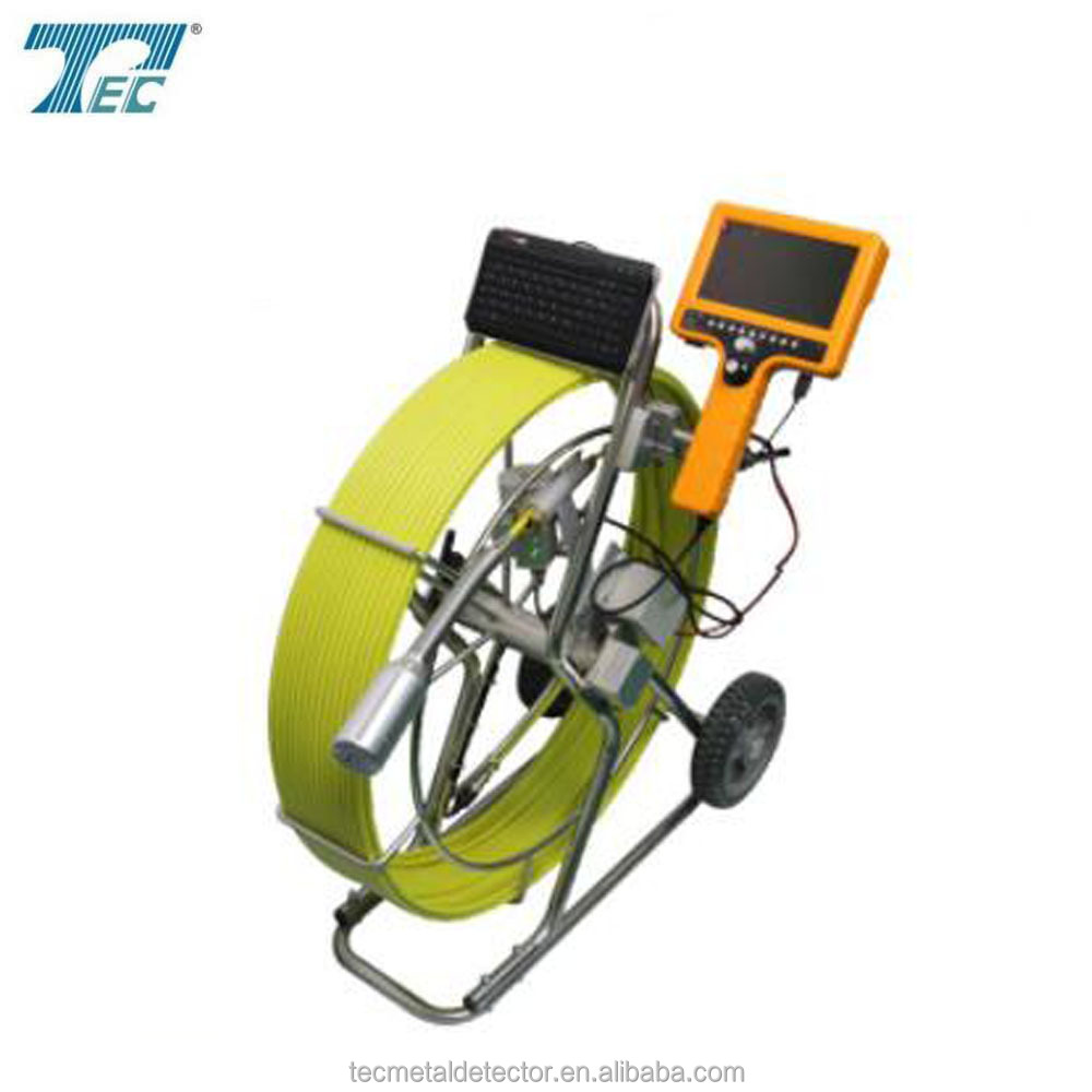 Hand held big pipe inspection camera TEC 712DN-SCJ with 50mm camera