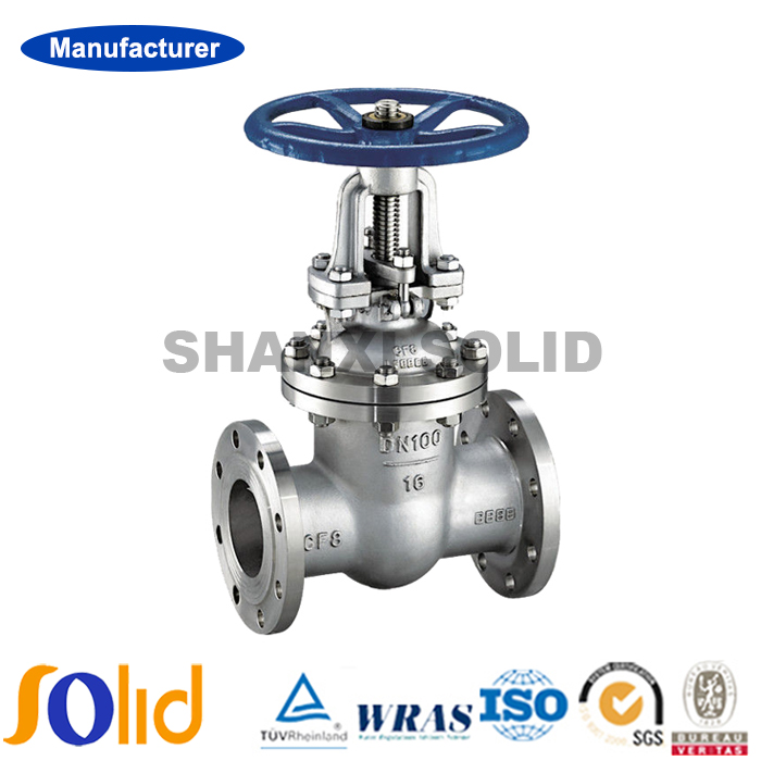 SS316 / SS304 OEM Water Gas Flanged Gate Valve