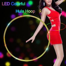 Top selling multi-function fitness hula hoop for kids toys LED Hoop Customized Size