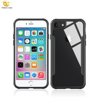 Wholesale Clear Phone Case Shockproof Combo Case For Iphone 8 Tempered Glass Case