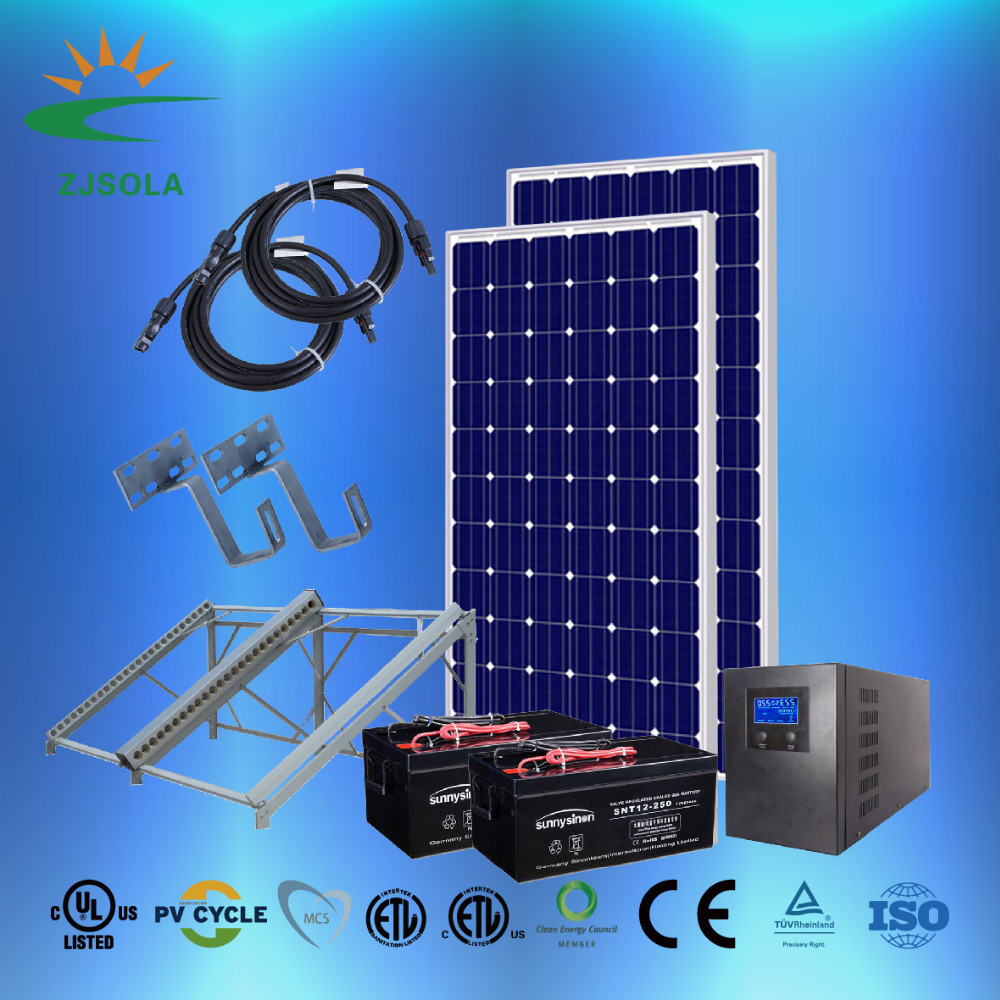 ZJSOLA solar power system 1KW 2KW 3KW 4KW 5KW 1 0KW 20KW solar poewr station 2000 watt high efficiency on-grid and off-grid