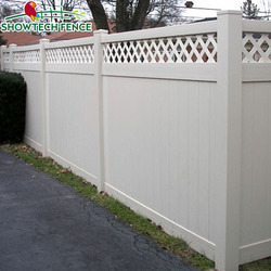 Widely used lattice-top vinyl/PVC privacy fence