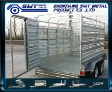 Fence cargo trailer for secure livestock