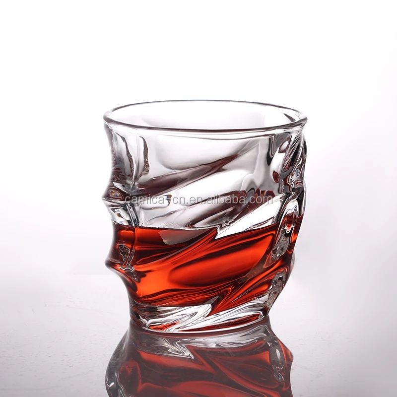 Promotional wholesale Eco-Friendly Hot sale Wave Whiskey Glass
