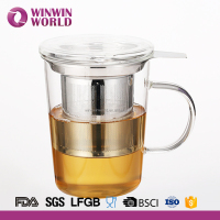 350ML Handle Drinking Glass Cup for Coffee Tea Wine Beer