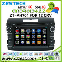 ZESTECH car dvd player for Honda CRV 2012 car dvd player DVR Android 4.2.2 capacitive multi touch screen