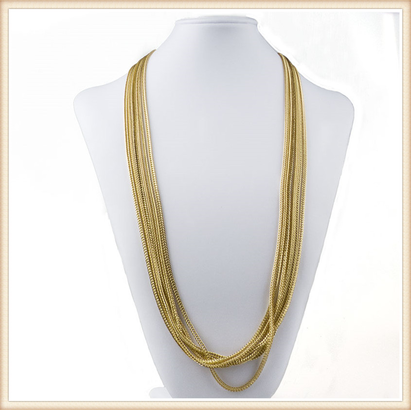 wholesale 18K gold chain necklace african wedding favour jewelry