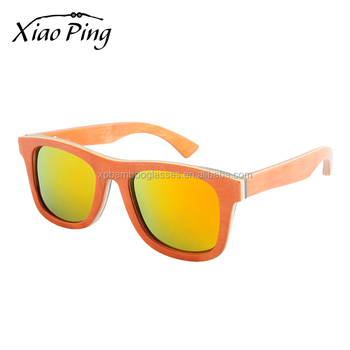 Chinese personalized color lens logo printing womens fashion wood sunglasses