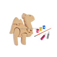 3D wooden craft puzzle camel