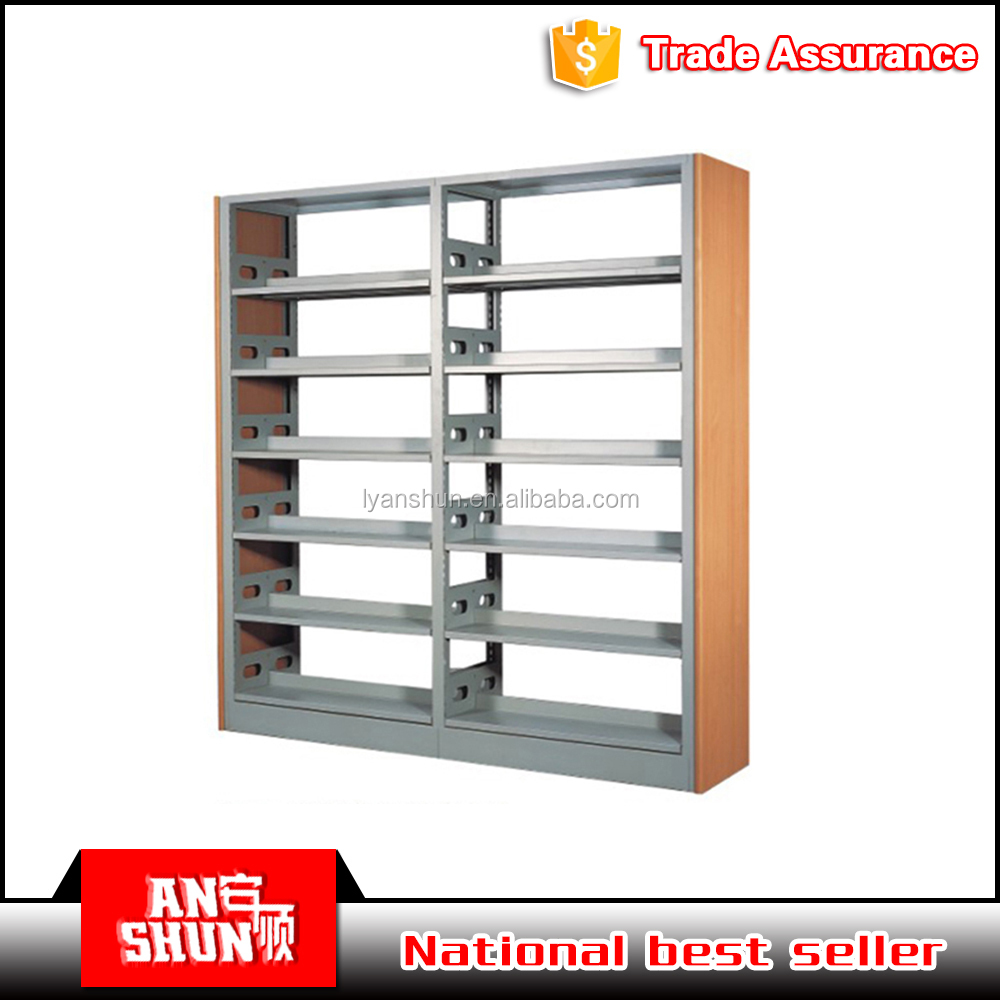 High quality used school Library furniture steel bookshelf