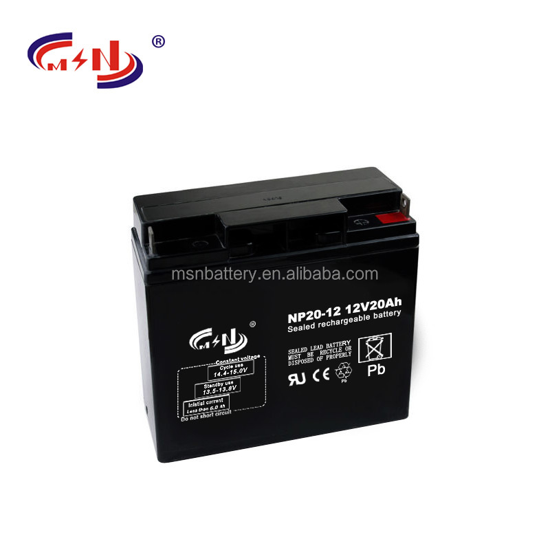 12v 20ah small rechargeable agm battery deep cycling for solar panel