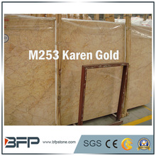 Wholesale price turkish gold imperial marble kitchen slab for tile stair countertop