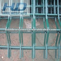commercial fencing, welded mesh panel, curved fence panel