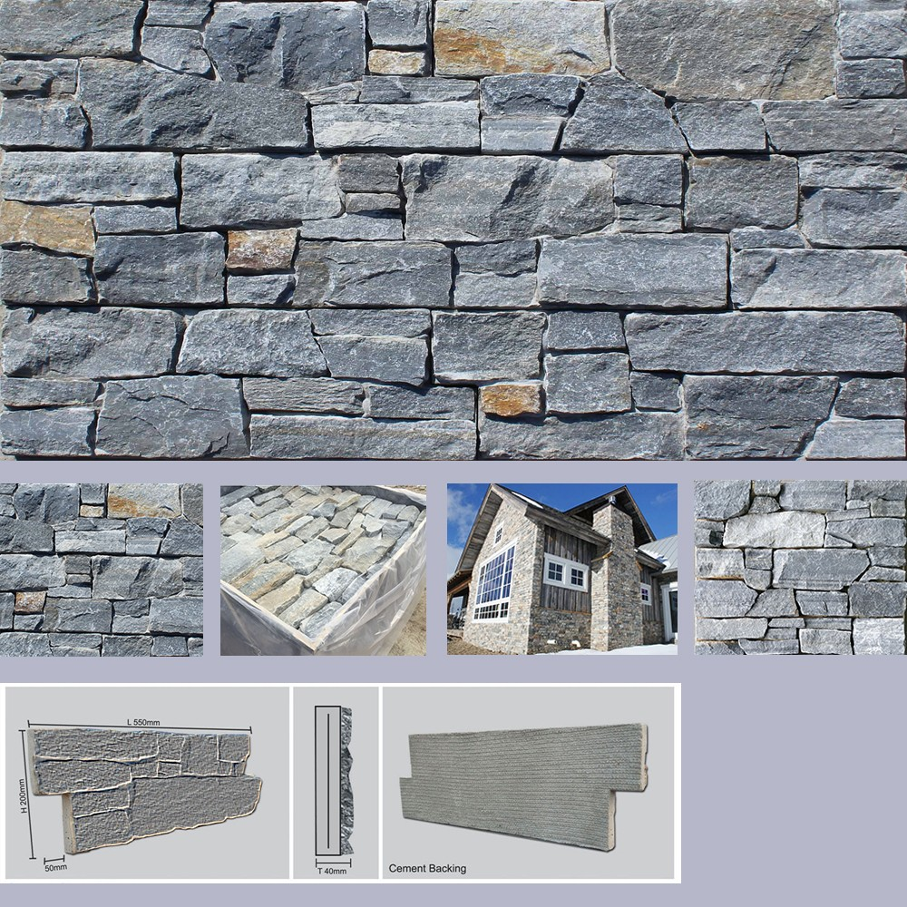 Hebei Factory Direct Sale Natural Ocean Blue Stone Veneer