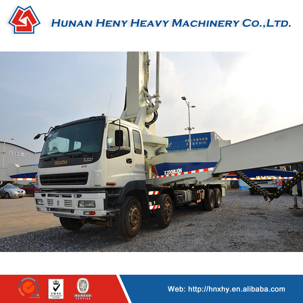 Upfolding photos coming ! Chinese brand Zoomlion remanufactured concrete pump truck / concrete machinery