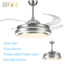 Comfortable safe no noise with remote control restaurant led ceiling fans