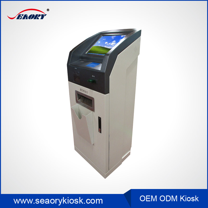 Outdoor atm booth payment kiosk terminal for photo printer/information check service