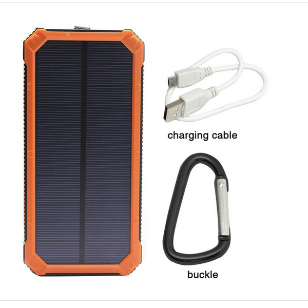 sinobangoo 12000mAh solar cell phone charger power bank with camping light