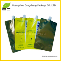 Hot sale food grade plastic screw cap bag for fruit juice/milk/jelly/beverage