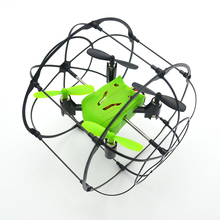 Toy Drone 2.4Ghz 4-axis Rolling Drone Quadcopter with Protective Circle