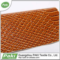 fashion glossy snake skin pu synthetic leather for interior decoration