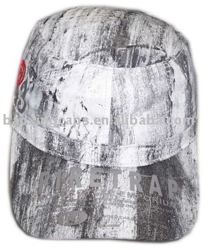 deluxe military style fashion cap with full printing