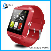 Best selling watch phone cell available blutooth android U8 smart watch with the lowest price