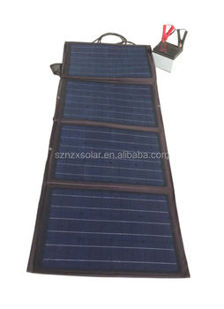 Portable 120W Folding Solar Panel Bag Blanket Regulator Waterproof with auto boat Car Charger