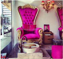 hot sale pink pedicure nail shop chair nail salon furniture
