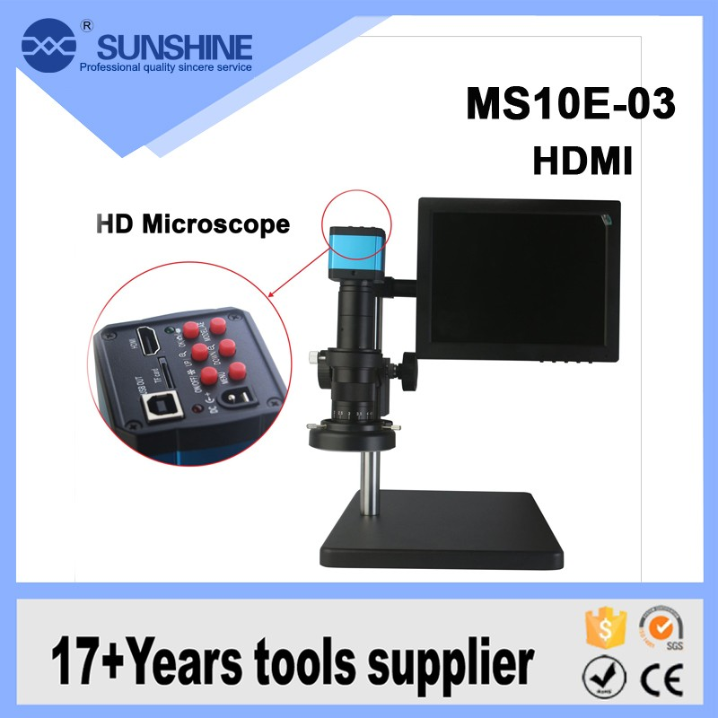 High quality HDMI camera digital stereo microscope with lcd screen