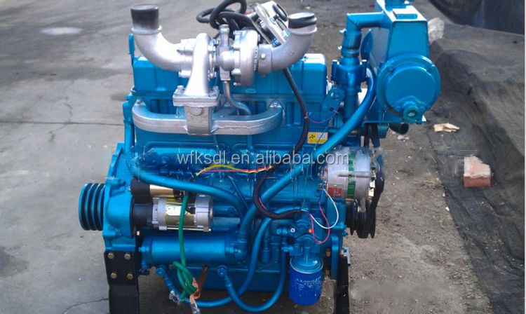 water cooled 4 cylinder marine diesel engine with gearbox