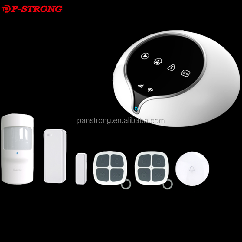 GSM Wifi GPRS Smart Home Alarm Safety Family Cell Phone Display Security System